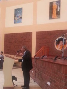 Prof. Anil Kumar Giving a Speech to the Students