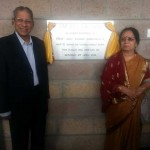 Prof. Anil Kumar and Sister Vijayalakshmi Unveiling the Plaque