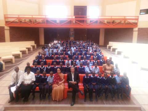 Prof. Anil Kumar and Sister Vijayalakshmi enjoying a program by the School Students