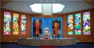 Altar at Sri Sathya Sai Centre - Kenya
